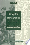 La littérature française au croisement des cultures