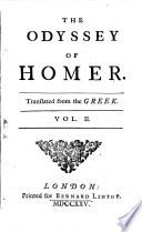 The Odyssey ¬of ¬Homer