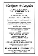 The Delphinium Society Year Book
