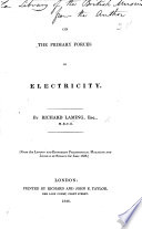 On the primary forces of electricity