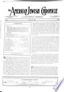 The American Jewish Chronicle