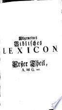 Allgemeines Biblisches Lexicon