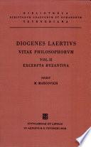 Diogenis Laertii Vitae philosophorum