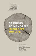 Book 30 Poems to Memorize  Before It s Too Late