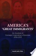 America s  Great Immigrants
