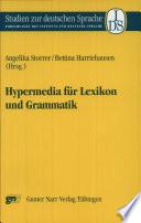 Hypermedia für Lexikon und Grammatik