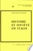 Histoire et société en Italie