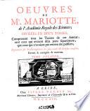 Oeuvres de Mr. Mariotte