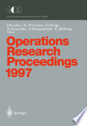 Operations Research Proceedings 1997