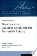Bausteine einer j  dischen Geschichte der Universit  t Leipzig