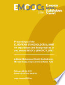 Proceedings of the European Stakeholder Summit on experiences and best practices in and around MOOCs  EMOOCS 2016