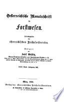 Oesterreichische Monatsschrift Fur Forstwesen
