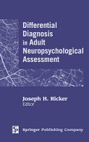 download ebook differential diagnosis in adult neuropsychological assessment pdf epub