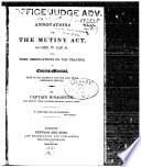 Annotations on the Mutiny Act