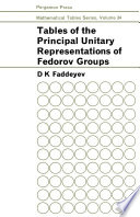 Tables of the Principal Unitary Representations of Fedorov Groups