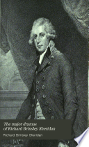 The Major Dramas of Richard Brinsley Sheridan
