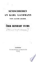 Sendschreiben an Karl Lachmann von Jacob Grimm über Reinhart Fuchs