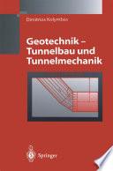 Geotechnik   Tunnelbau und Tunnelmechanik