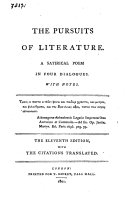 The Pursuits of Literature