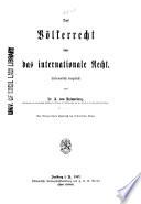 Das Völkerrecht oder das internationale Recht