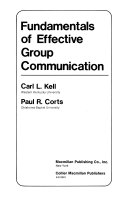 Fundamentals of Effective Group Communication