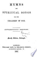 download ebook hymns and spiritual songs for the children of god ... fourth edition, enlarged pdf epub