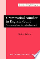Grammatical Number in English Nouns