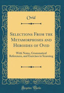 download ebook selections from the metamorphoses and heroides of ovid pdf epub