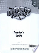 Language Power  Grades 3 5 Level C Teacher s Guide
