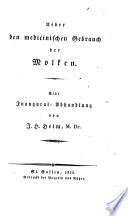 Ueber den medicinischen Gebrauch der Molken