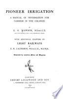 Pioneer irrigation