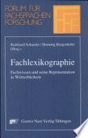 Fachlexikographie