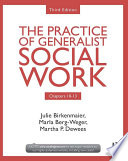 Chapters 10 13 The Practice Of Generalist Social Work Third Edition