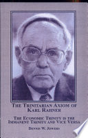 The Trinitarian Axiom Of Karl Rahner