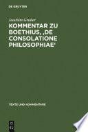 Kommentar zu Boethius   De consolatione philosophiae