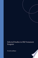 Selected Studies in Old Testament Exegesis