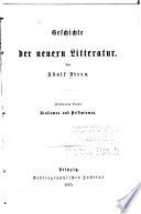 Geschichte der neuern litteratur: Realismus und pessimismus