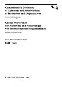 Comprehensive Dictionary Of Acronyms And Abbreviations Of Institutions And Organizations Coll Ger