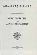 Gottesfurcht im Alten Testament