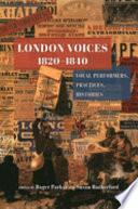 London Voices  1820   1840 Book PDF