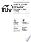 American Housing Survey for the San Antonio Metropolitan Area in ...