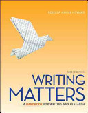 Writing Matters  Tabbed  Spiral Bound Edition