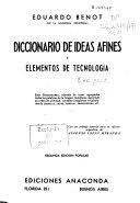 Diccionario de ideas afines y elementos de tecnolog  a