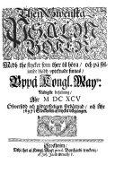 Den svenska psalmboken  1695