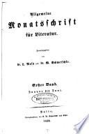 Allgemeine Monatsschrift f  r Literatur