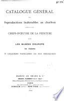 Catalogue g  n  ral des reproductions inalt  rables au charbon