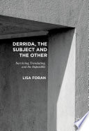 Derrida  the Subject and the Other