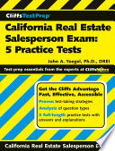 CliffsTestPrep California Real Estate Salesperson Exam  5 Practice Tests
