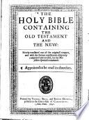 The Holy Bible. B.L.