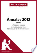 Bac de français 2012 - Annales Série L (Corrigé)